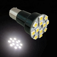 Ba15s 1156 12 SMD LED For Car Auto Dome Interior Reading Light Lamp Bulbs SUNSET WHITE PA