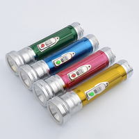 Wholesale China hand operated security metal portable led torch light