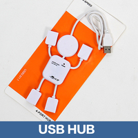 2.0 High Speed 4 Ports Rotatable USB HUB For Notebook Computers Mini USB HUB