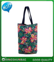 Low price customized printing organic cotton bag for strong handle