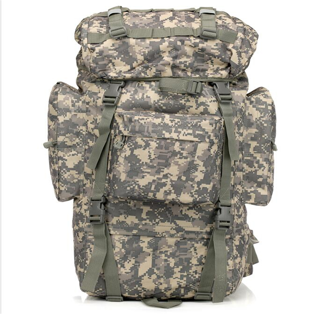 manufacturer OEM 600D oxford waterproof rain cover 65L molle assualt military backpack with internal frame