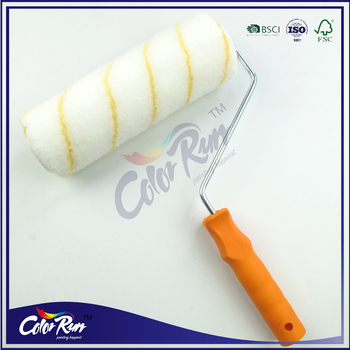 "ColorRun 8"" Polyester Yellow Stripe Roller Paint Roller"