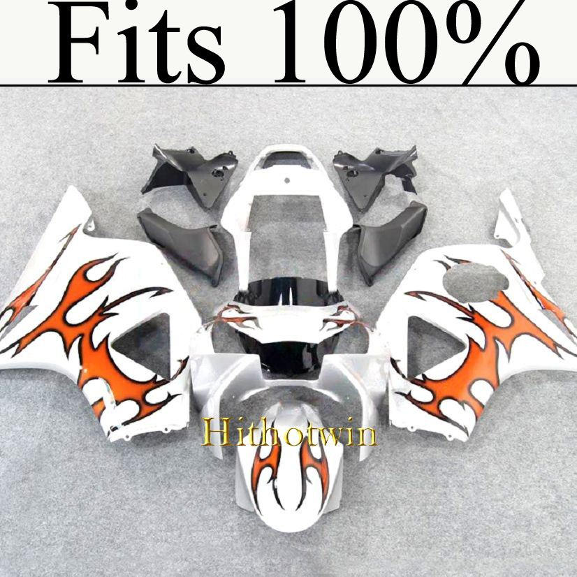 Fits 100%!! INJ Fairing For HONDA CBR 900RR 2002-2003 orange flames ABS Fairing Kit Set Fit CBR900RR 954 2002 2003
