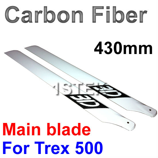 Real 3K Carbon Fiber 430mm Main Blade for Trex 500 Helicoper