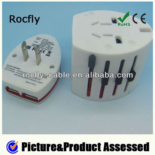 The Newest World Travel Adapter with USB Charger