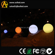 waterproof outdoor use plastic colours changing rechargeable operated ball light for the party event decoration