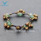 New fashion special Thai style jade bell copper men charm bangle bracelet
