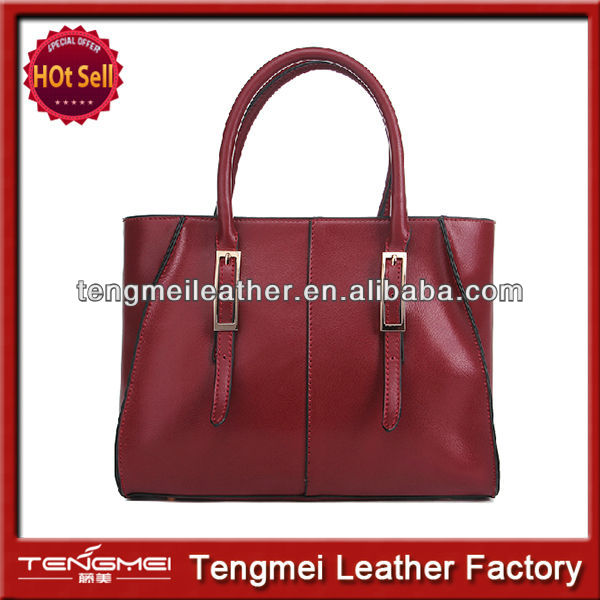 2014 Hot sales popular pure leather lady's smart handbags
