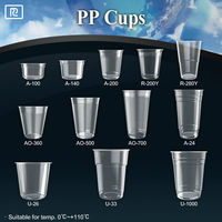 K-U360Y-P PP 12oz 360ml painting plastic disposable cups with lids