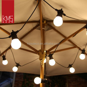connectable 24V 10M led white bulb festoon party lights with white lampshade