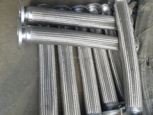 304stainless steel corrugated pipe bellows pipe fitttings with flange end