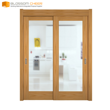 Solid wood cell plate cheap fancy interior eco sliding doors closet
