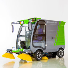 Economic Gas Powered Snow Power Broom Dust Cleaner Road Sweeper