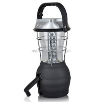 rechargeable hand cranking dynamo 36 led solar power camping lantern