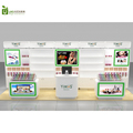 Ladies cosmetic shop fittings and wooden cosmetic display showcase design for sale