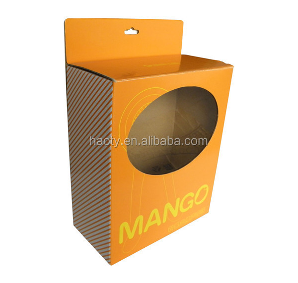 Corrugated Cardboard Paper Box with hanger