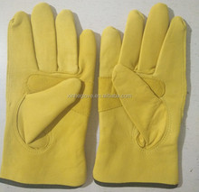 yellow sheep palm reinforced leather glove