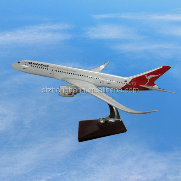 Boeing B787 scale plane model, 33cm, ISO9001, excellent quality, business gift, decoration