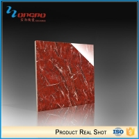 White and red jade marble flooring tile