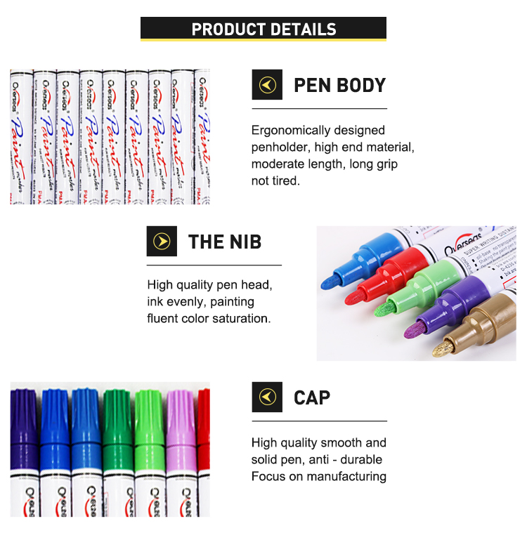 Professional high quality japan mitsubishi ink 18 colored waterproof pens paint pen porcelain marker