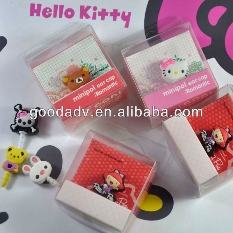OEM animal shape plastic headphone jack dust plug