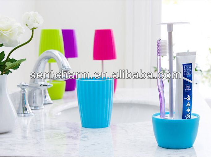 new business ideas colorful cheap suction cup toothbrush holder crest toothpaste