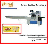 Automatic hot dog flow wrap machine