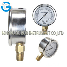 High quality 2.5 inch stainless steel brass internal air pressure gauge meters with bottom connection