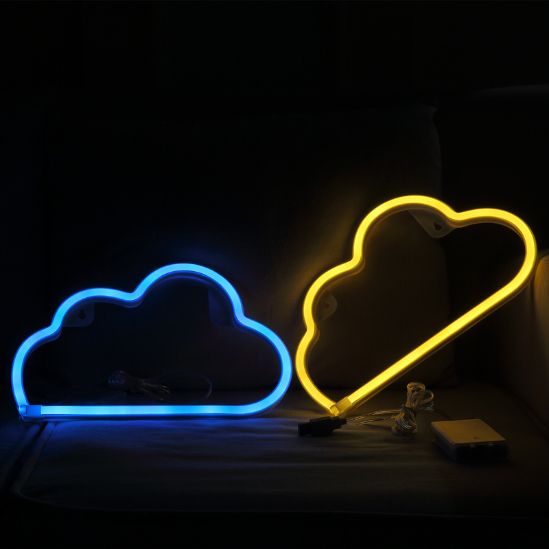 Hohappyme Cloud Shape Neon Sign Party Supplies Children Room Wall