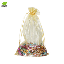 4*5CM Drawstring Mini Pouch Organza For Ring Packing Bag With Jewellery Shop Logo