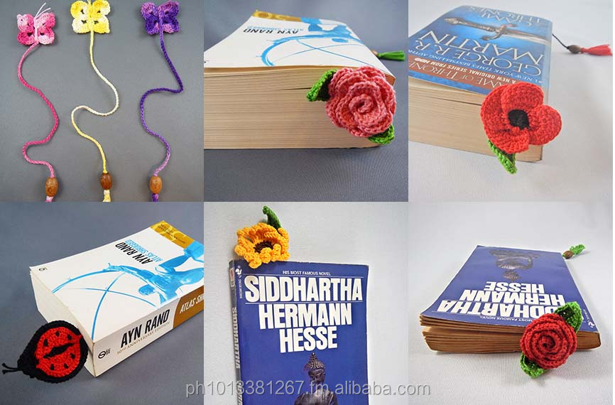 Handmade crocheted Bookmarks