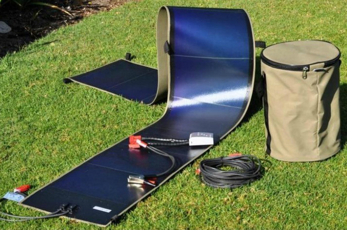 72W flexible solar panel/adhesive laminated thin film solar panel for roof