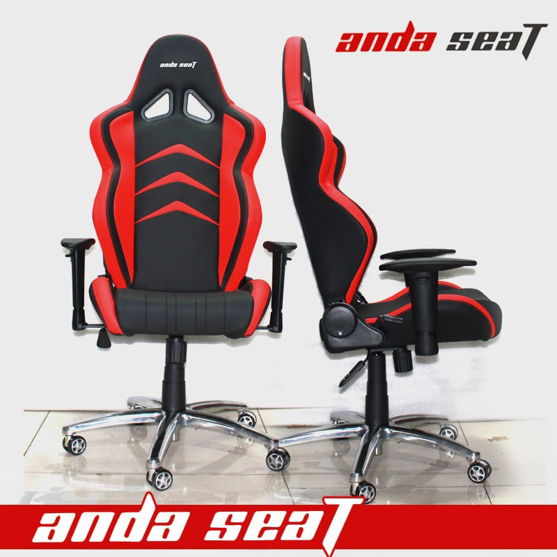 Office Chair Racing Game Office Seat Red Black PVC SPK