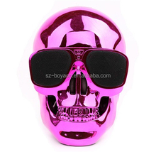 2017 Super cool skull super bass bluetooth mp3 speaker for smartphone , ipad,computer