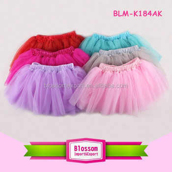 Baby frock Bulk Wholesale Latest Design dance multicolor Tutu Skirt Girls Kid Chiffon ballet skirt children wears girls skirt