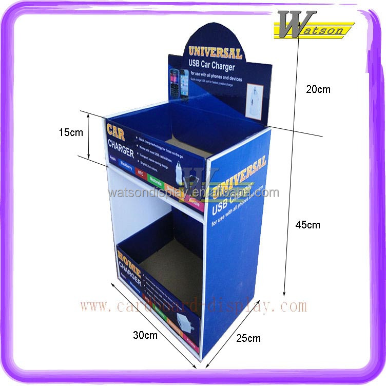 mobile phone recharger retail cardboard display topshelf