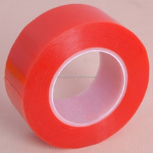 Polyester PET Silicone Adhesive Red Splice Tape For Liner Joint