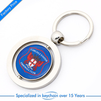Supply custom branded promotional metal keychain