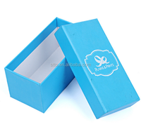 Blue simple 2 pieces printing paper packaging gift box with lid