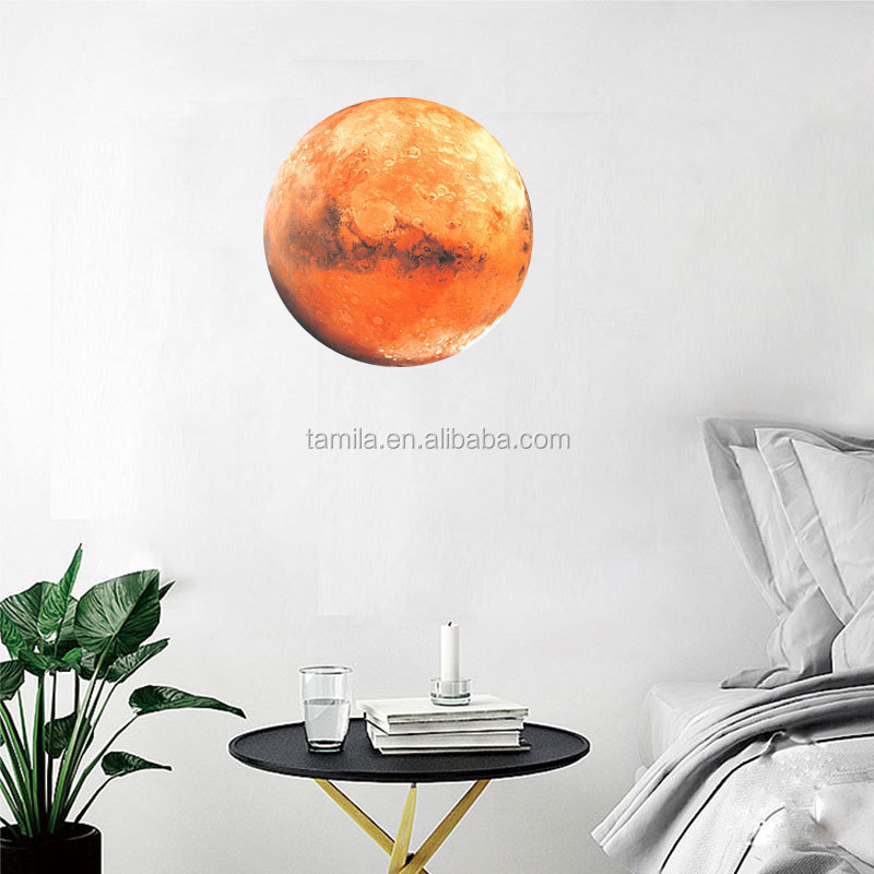 30cm Removable The Planets Mercury Glow in the Dark Sticker