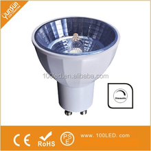 hottest dimmable gu10 led spot light 5w 6w warm white