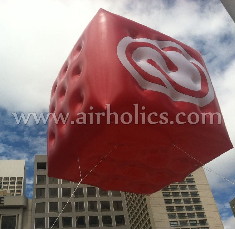 Floating Inflatable Cube Advertising Hot Air Balloon/Balloon Helium