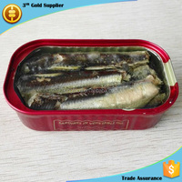 125g Canned Sardine Food in Oil Best Chinese Canned Food