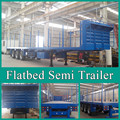 Flatbed Trailer, container trailer, low bed trailer design for Saudi Arabia
