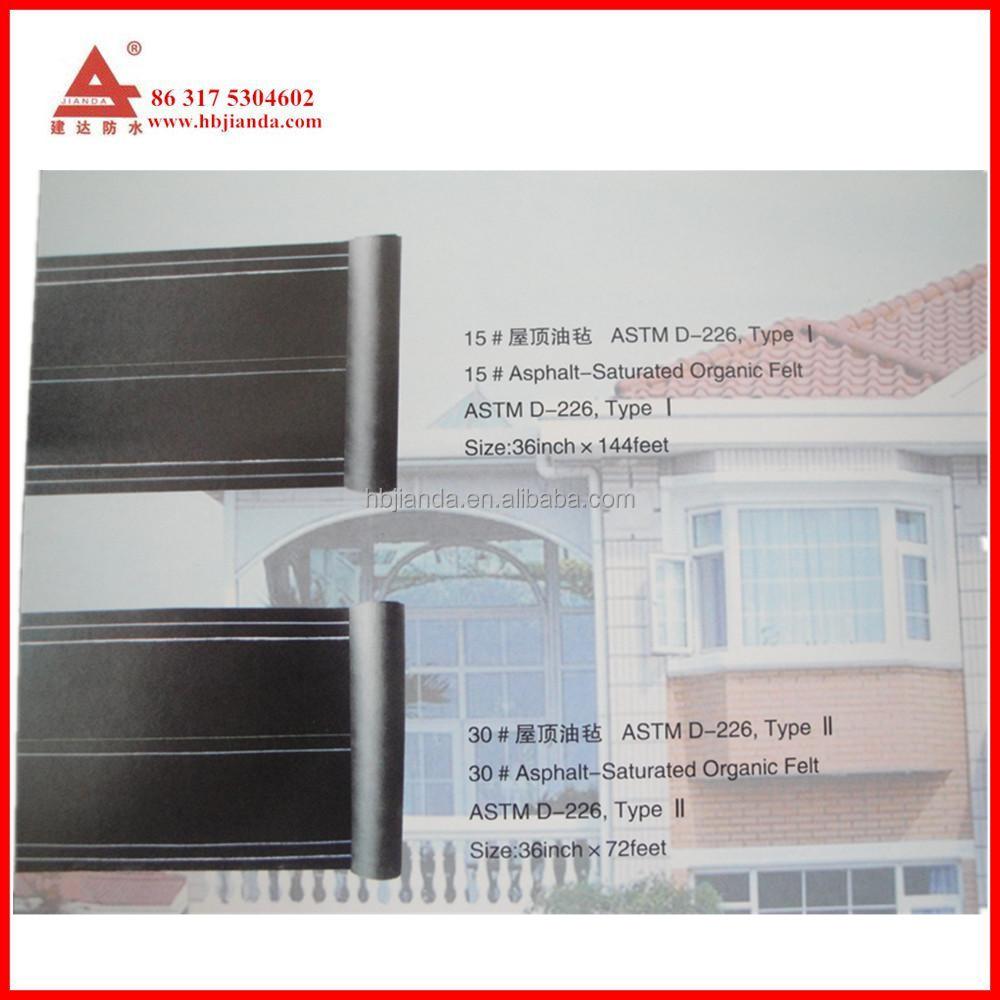 Astm D 226 Asphalt Roof Felt From China Buy Black