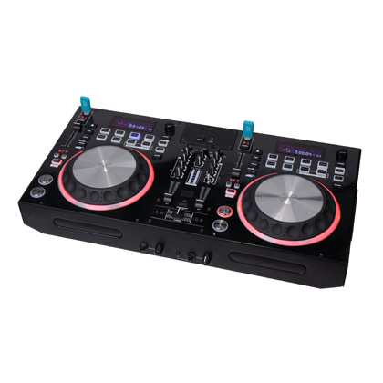 DJ CD player/ table cd player with dual cd USB player , with mixer , control
