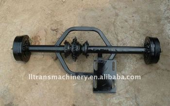 Chain drive electric ricksaw axle