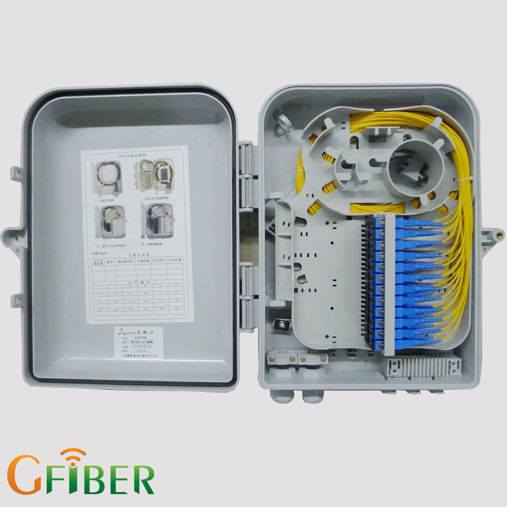 FTTH indoor IP 66 24 core fiber optic telephone terminal box