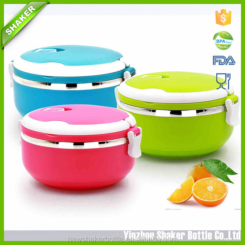Shaker Stainless Steel Insulated Lunch box Polished outlook Single circular insulation lunch boxes