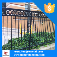 Elegant Residential Commercial High Quality Durable Galvanized Steel Picket Fence